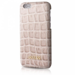 Чехол Guess Croco Hard PU для iPhone 7, Цвет: Бежевый